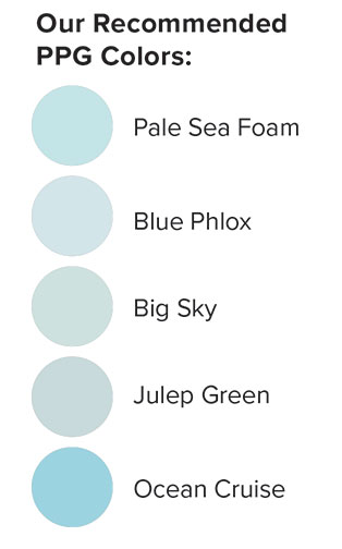 Haint Blue swatches